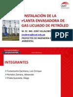 INSTALACIÓN DE LA PLANTA ENVASADORA DE GAS LICUADO DE PETROLEO