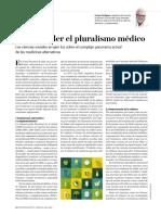 Comprender El Pluralismo Médico. Enrique Perdiguero (Investigación y Ciencia, Julio 2019.
