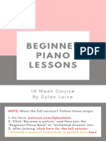 Free Sample - Beginner Piano Lessons (E-Book)