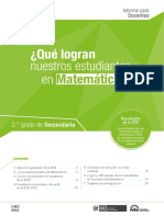 Informe Para El Docente Matemática ECE 2015
