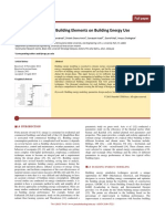 Parametric Analysis of Building Elements on Building Energy Use