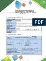Guía de Actividades y Rúbrica de Evaluación - Fase 2 - Planificación