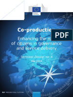 Co-production - Enhancing the Role of Citizens in Governance and Service Delivery
