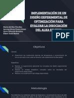 implementacion de un diseño para evaluar la disolucion del alkaserse