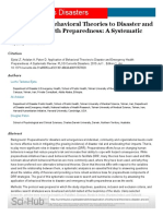 Application of Behavioral Theories to Disaster and Emergency Health Preparedness_ a Systematic Review – PLOS Currents Disasters