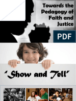 Towards the Pedagogy of Faith and Justice
