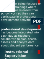 Tools for Instructional Supervision