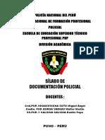 Documentacion Policial Silabus 2019 Orden Publico