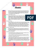 parent newsletter - phonics and phonological awareness