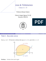 Areas  y volumenes Calculo Integral