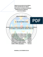 Relación Entre Los Artículos de Código Tributario y La División Del Derecho Tributario[1]