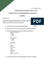 KIIT university PPL(IT 401) paper