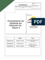 PROCEDIMIENTO PARA ANALISIS DE MUESTRAS POR DIFRACCION DE RAYOS X.pdf