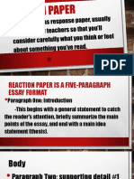 3.Reaction Paper