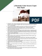 12 Tips Cara Bermain Catur.docx