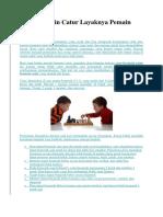 strategi bermain catur