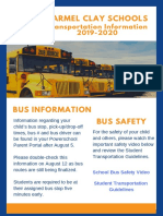 2019-2020 Transportation Back to School Information