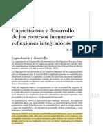 SEM 1 Capacitación y Desarrollo de Los Recursos Humanos Reflexiones Integradoras