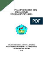 Anzdoc.com Standar Operasional Prosedur Sop Program Studi Pen