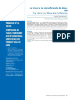 Historia de La Conferencia Alma Ata