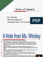 8 Parts of Speech english
