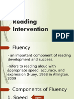 Lac Session on Reading Intervention