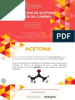 Producción de Acetona y Fenol