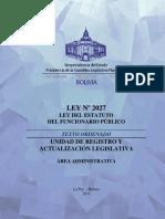 ADMINISTRATIVO- LEY 2027 Estatuto del Funcionario Publico.pdf
