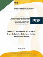 PROJETO DE INICIAÇÃO CIENTIFICA - Sistema de Justiça e Neoprocessualismo