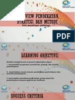 Pendekatan, Strategi Dan Metode Pembelajaran