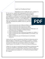 Fondos Ley Coordinación Fiscal