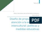 Tema10 Diseño de Propuestas de Atencion a La Educacion Intercultural