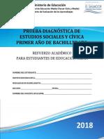 Prueba Diagnóstica - Estudios Sociales - Primer Año Bachillerato - 2018