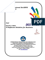 Soal LKS IT Software for Bussiness 2019