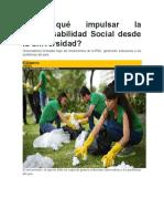 1.1.- Por Qué Impulsar La Responsabilidad Social Desde La Universidad