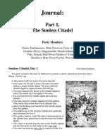 Journal Part 1 Sunless Citadel