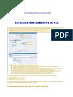 Autolock Box Concepts in r12