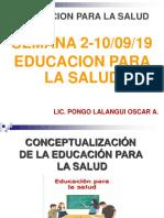 Clase Educacion Para La Salud