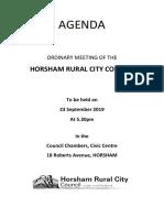 Horsham council agenda September 2019