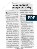 Business Mirror, Sept. 20, 2019, House may approve 2020 budgt bill today.pdf