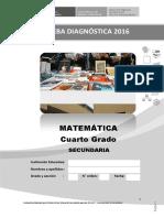Prueba Matemática 4