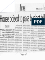 Manila Times, Sept. 20, 2019, House poised to pass budget bill.pdf