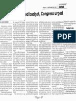 Philippine Star, Sept. 20, 2019, Avoid reenacted budget, Congress urged.pdf