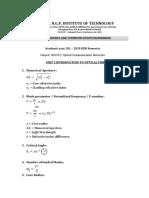 OCN Formuals
