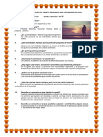Cuestionario Para El Perfil Personal Del Estudiante de Cas