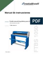Cizalla Manual Aslak Metalkraft Ftbs 1050 10 Ref