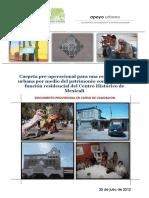 Carpeta pre-operacional del Plan Sectorial de vivienda para el Centro Histórico de Mexicali.