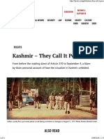 WIRE From Abrogation to 4th September How It Went Down in Kashmir
