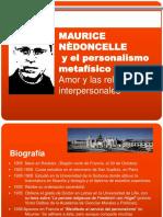 Nédoncelle, Maurice (ref.) & Viau, Gerardo (aut.) (2012) Maurice Nédoncelle y el Personalismo Metafísico (presentación)