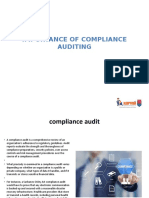 Importance of compliance auditing